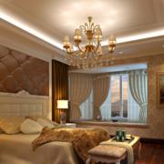 2016经典欧式复式楼卧室吊顶装修效果图