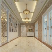 90平米简欧风格大户型精致走廊吊顶装修效果图