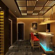 新中式风格的吧台