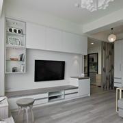 白色精美电视墙