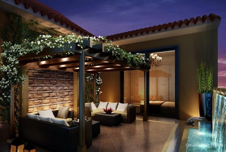 都市公寓顶楼阳台装修设计效果图