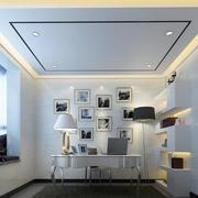 简欧风格小别墅书房照片墙设计效果图