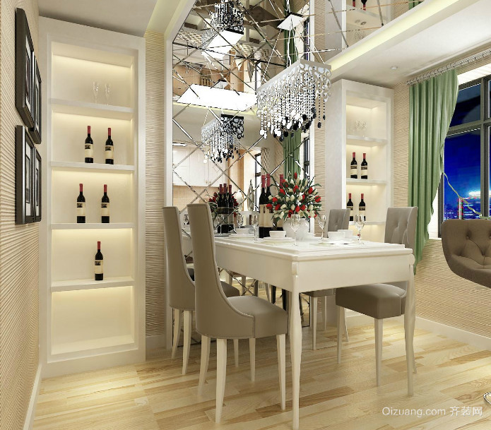 2016精美的小户型欧式餐厅装修效果图实例