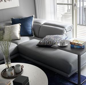 灰白色调后现代两居室室内装潢设计图