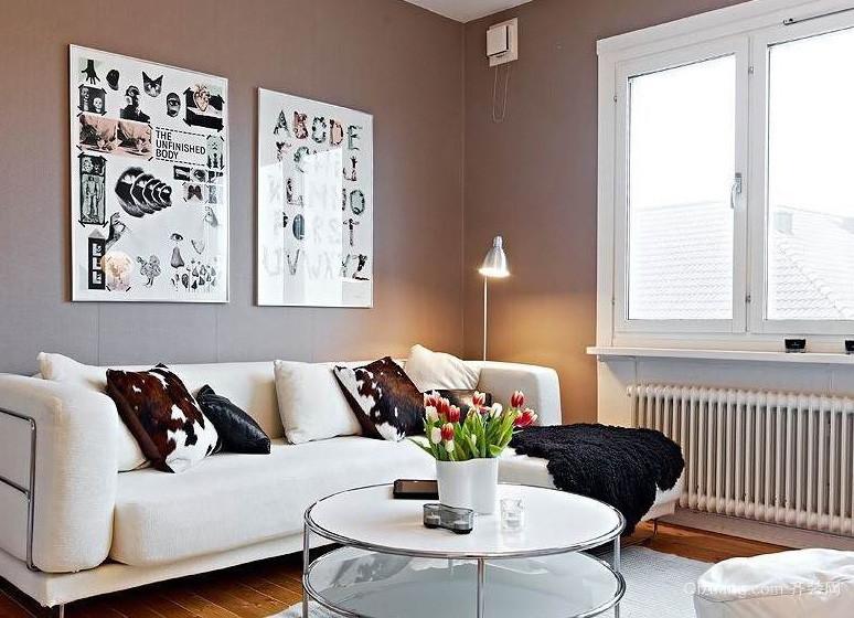 北欧风格50平米小户型客厅装修效果图