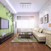 轻快舒适50平米小户型客厅装修效果图