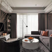 室内客厅窗帘图片