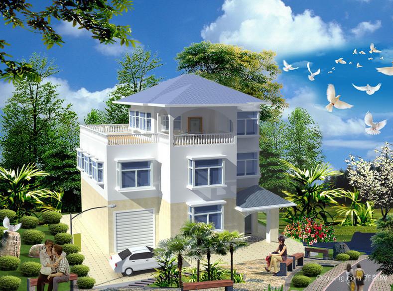 2016新住宅自建小别墅农村设计图-齐装网装修欧式v住宅别墅模型图片