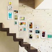 小清新跃层住宅楼梯照片墙设计效果图