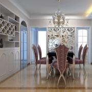 2016精美的现代大户型欧式室内酒柜装修效果图