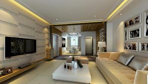 现代都市130平米家居客厅装修效果图