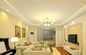 田园风格50平米小户型客厅装修效果图