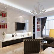 大理石白色电视墙