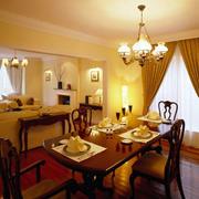 温暖橙色餐厅装饰