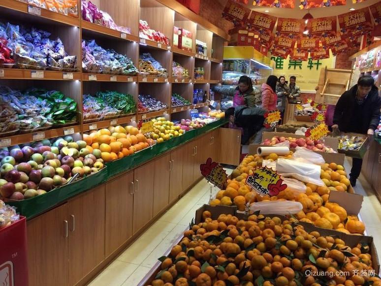 温馨朴素水果超市展示柜装修效果图