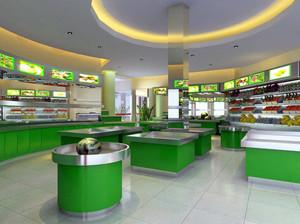 现代简约大户型水果超市装修效果图