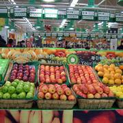 简约市中心大型水果超市装修效果图