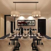 温婉新古典风格120平米餐厅装修效果图