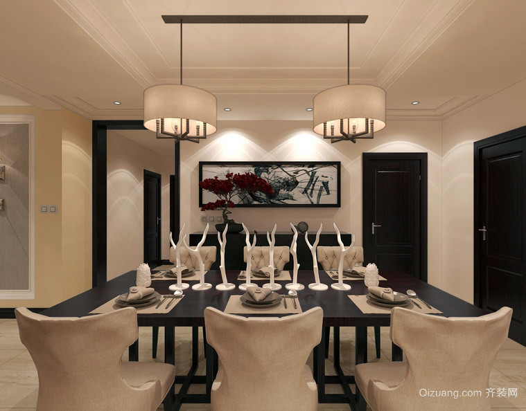 欧式大户型家庭开放式厨房装修效果图