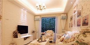 2016韩式风格两居室客厅装修效果图