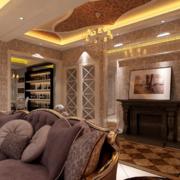 2016舒适高贵的大户型欧式客厅装修效果图鉴赏