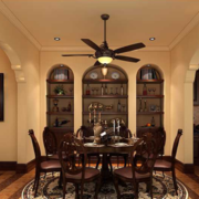 2016大户型美式装修风格样板房餐厅装修效果图