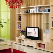 原木色的电视柜