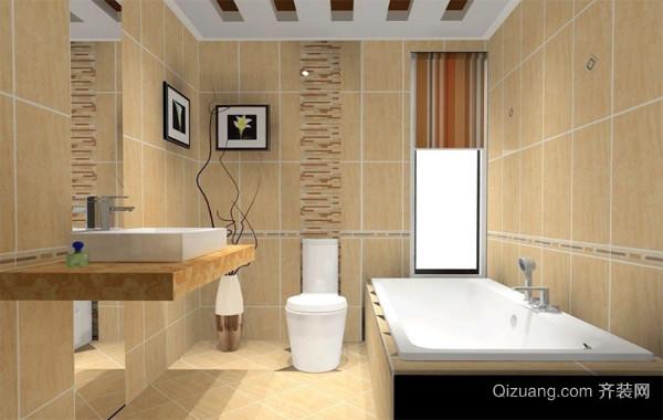 2016欧式马可波罗瓷砖卫生间背景墙装修效果图