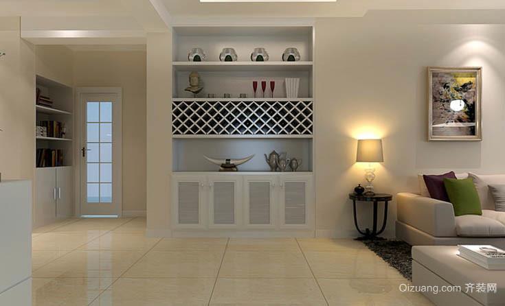 现代简约小户型客厅装饰壁柜效果图