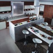 精致的欧式大户型家庭开放式厨房装修效果图