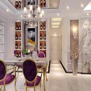 梦幻三室一厅餐厅欧式酒柜效果图