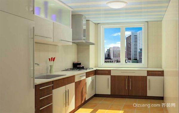 120平米经典欧式大户型开放式厨房装修效果图