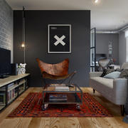 公寓深色小客厅展示