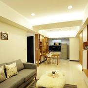 单身公寓简约客厅展示