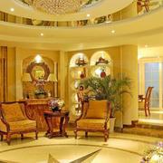 别墅欧式复古客厅