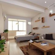 单身公寓简约卧室图片