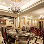 340平米小别墅新古典风格餐厅装修效果图