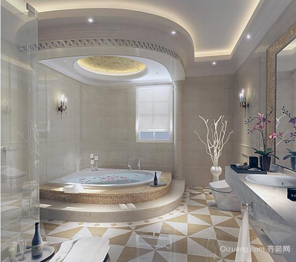 120平米大户型精装欧式浴室装修效果图