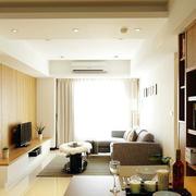 单身公寓温馨客厅欣赏