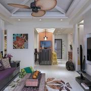 东南亚客厅简约设计