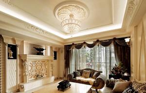 大户型别墅欧式新古典风格客厅装修图