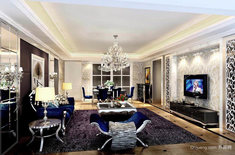 2016法式新古典风格别墅客厅装修效果图