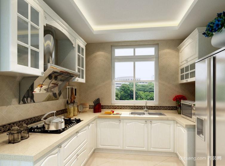 90平米大户型唯美的欧式厨房装修效果图