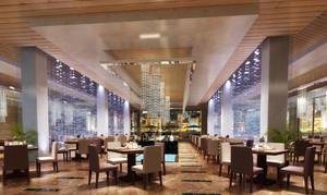 高级都市超大户型西餐厅装修设计效果图