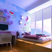 卧室个性可爱背景墙展示