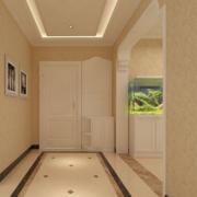 80平米小户型精美的欧式室内玄关装修效果图