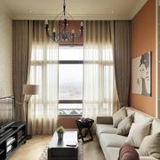 单身公寓客厅窗帘欣赏