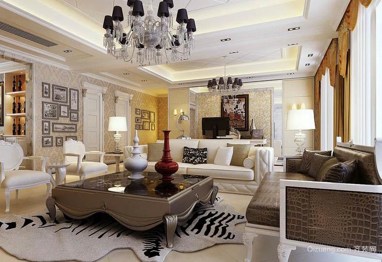 新古典欧式风格大户型别墅客厅装修图