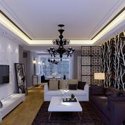 单身公寓客厅墙纸