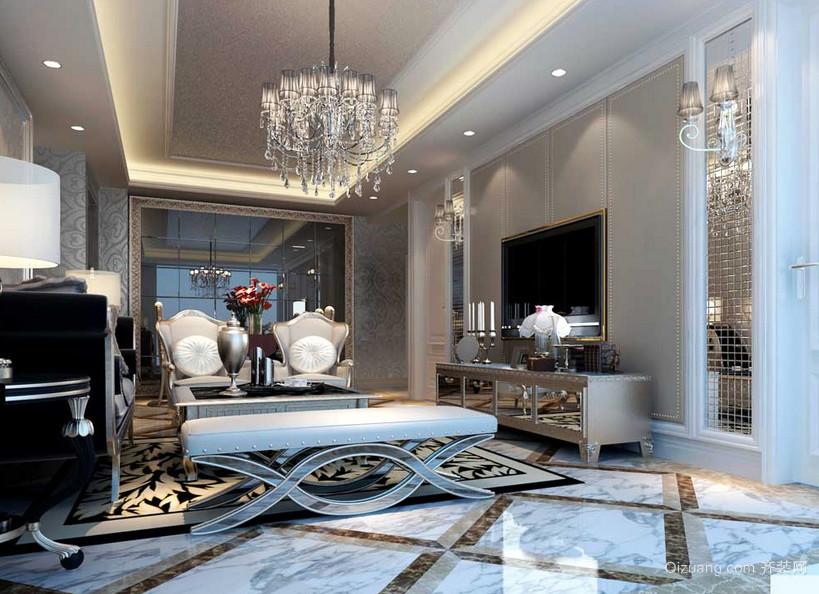 新古典风格三室两厅两卫客厅装修效果图